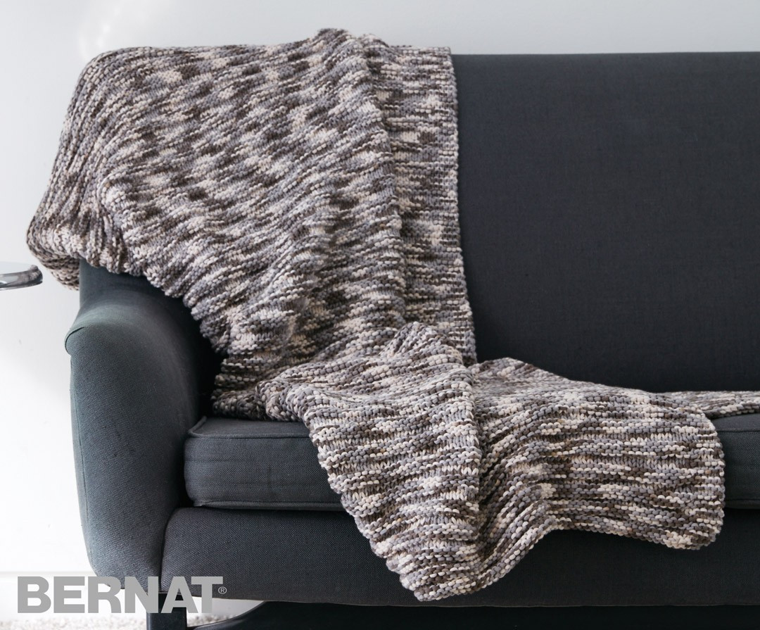 Bernat Blanket Yarn Patterns Elegant Bernat Ridges Blanket Knit Pattern Of New 42 Photos Bernat Blanket Yarn Patterns