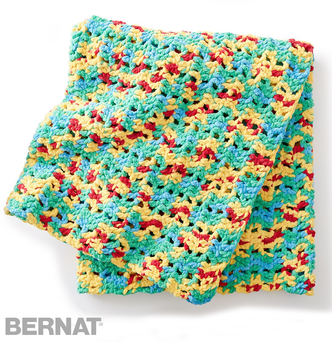 Crochet Patterns Bernat Blanket Yarn wmperm for