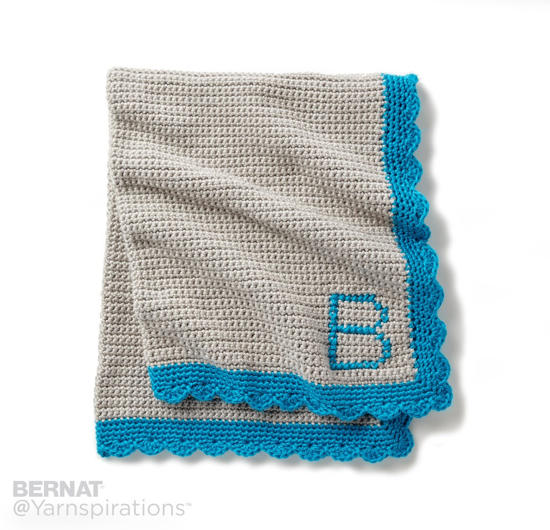 Bernat Crochet Baby Blanket Beautiful Bernat Crochet Monogram Baby Blanket Crochet Pattern Of Wonderful 44 Models Bernat Crochet Baby Blanket
