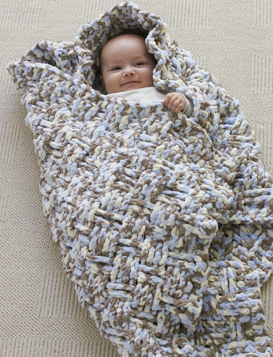 Bernat Dream Weaver Blanket Crochet Pattern