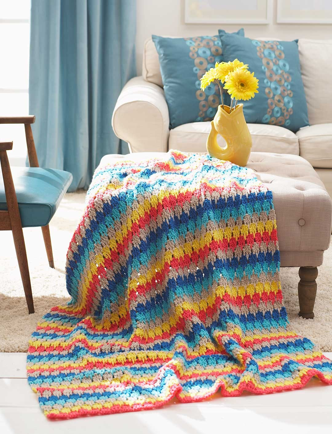 Bernat Larksfoot Blanket Crochet Pattern