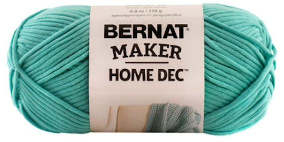 Bernat Maker Home Dec Yarn Beautiful Bernat Maker Home Dec Yarn In Aqua From Of Charming 45 Ideas Bernat Maker Home Dec Yarn