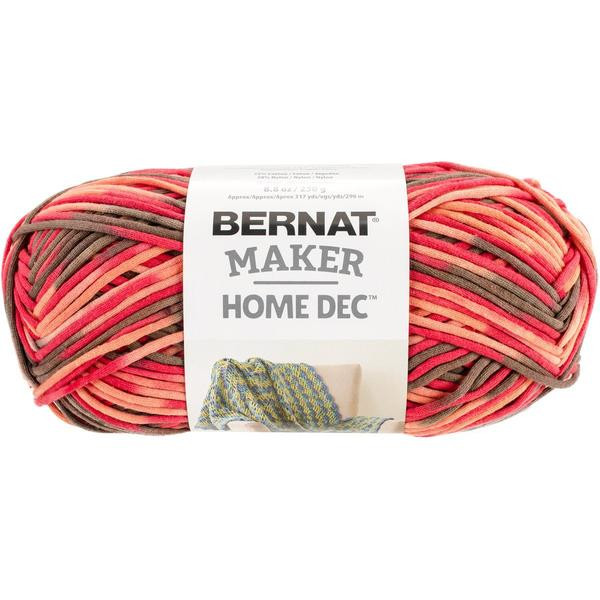 bernat maker home dec yarn spice variegate