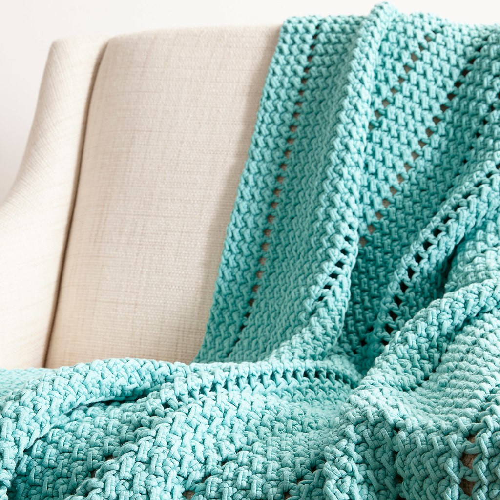 Bernat Maker Home Dec™ Eyelets and Textures Crochet Blanket