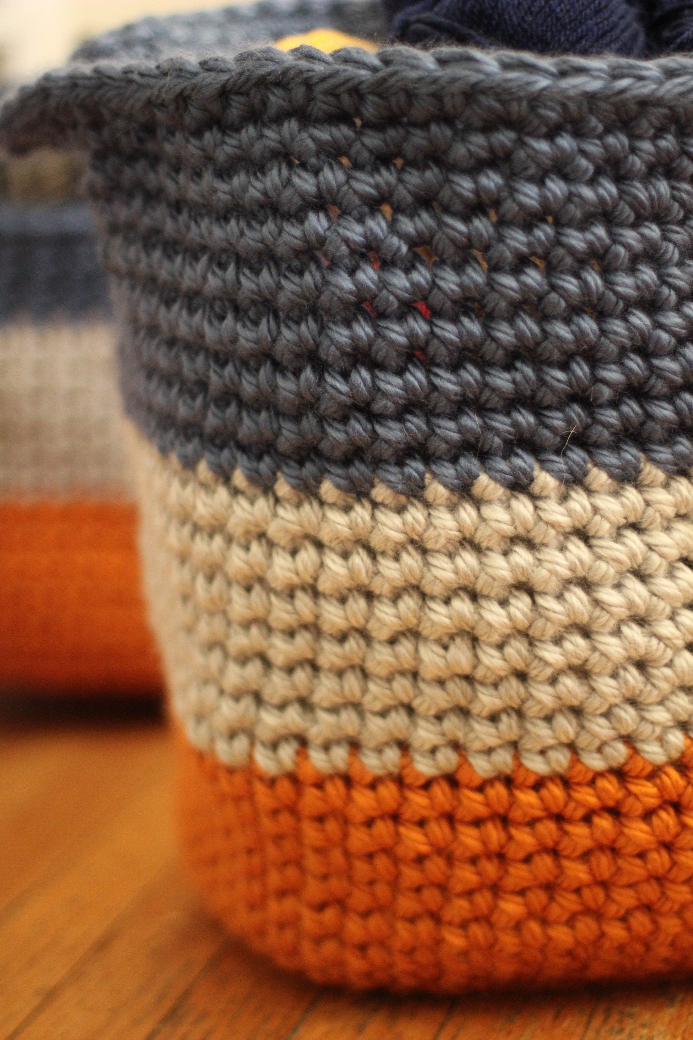FO Cache Baskets and a Yarnspirations Fall Lookbook
