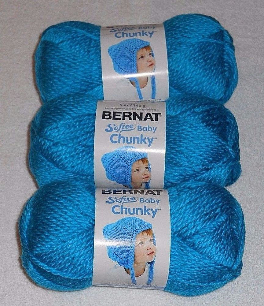 "Bernat softee Chunky New Bernat softee ""baby"" Chunky Yarn Lot 3 Skeins Blue Of Delightful 50 Images Bernat softee Chunky"