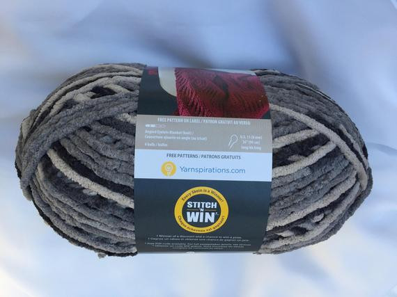 DARK GRAY VARG Bernat Blanket Yarn 220yds 10 5