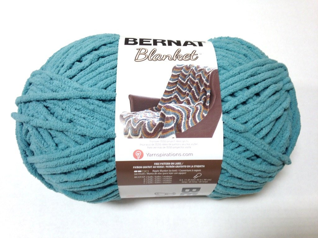 Bernat Big Blanket Yarn Light Teal Skein 300 Grams New