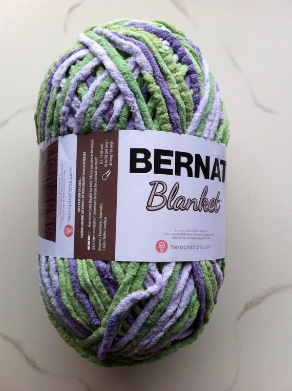 LILAC LEAF Bernat Blanket Yarn 258yds 10 5 oz