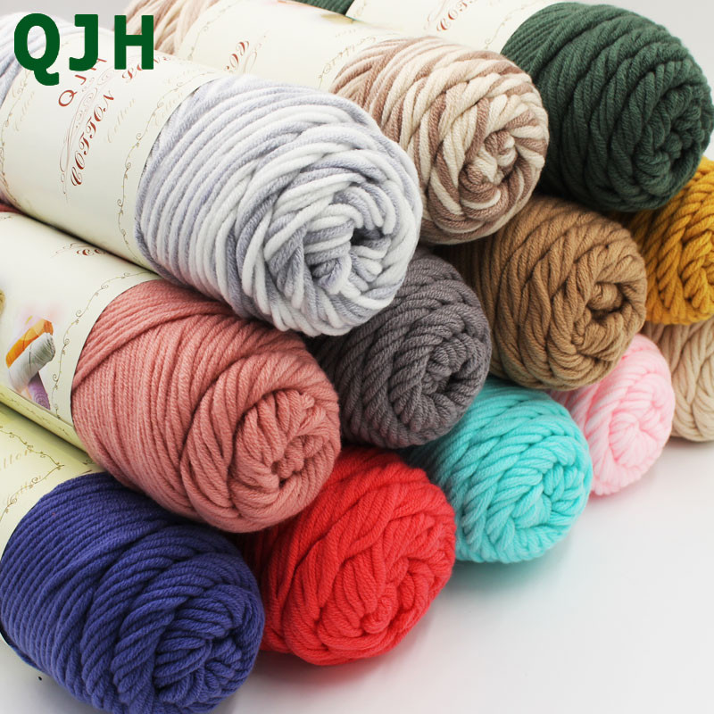 100g pcs Natural Soft Silk Milk Cotton Yarn Thick Yarn For