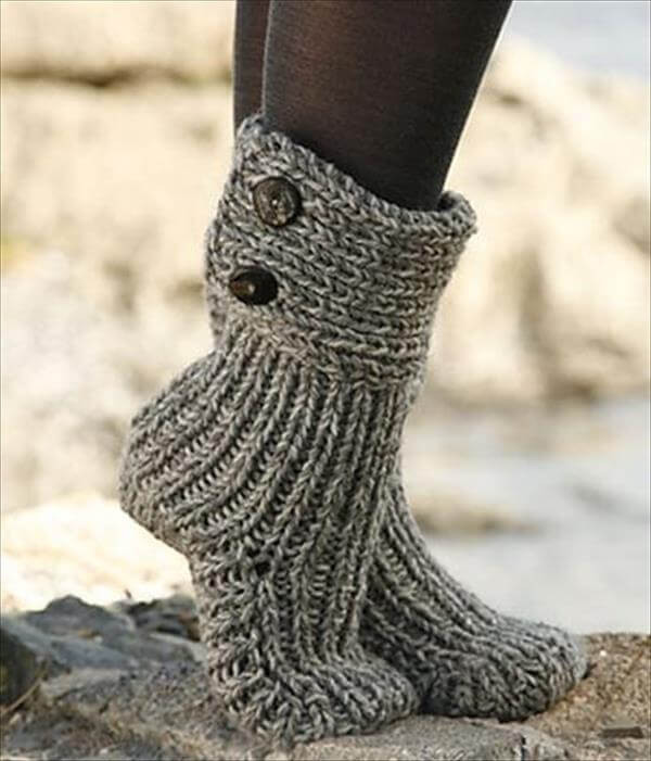 Best Of 10 Diy Free Patterns for Crochet Slipper Boots Knitted Slipper Boots Of Superb 41 Pics Knitted Slipper Boots
