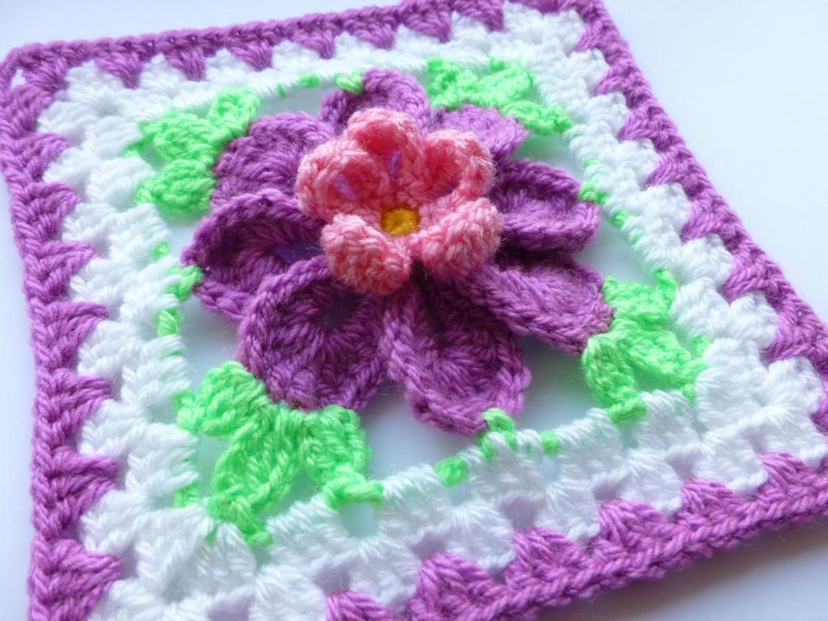 Best Of 10 Flower Granny Square Crochet Patterns to Stitch Crochet Flower Square Of Brilliant 47 Models Crochet Flower Square