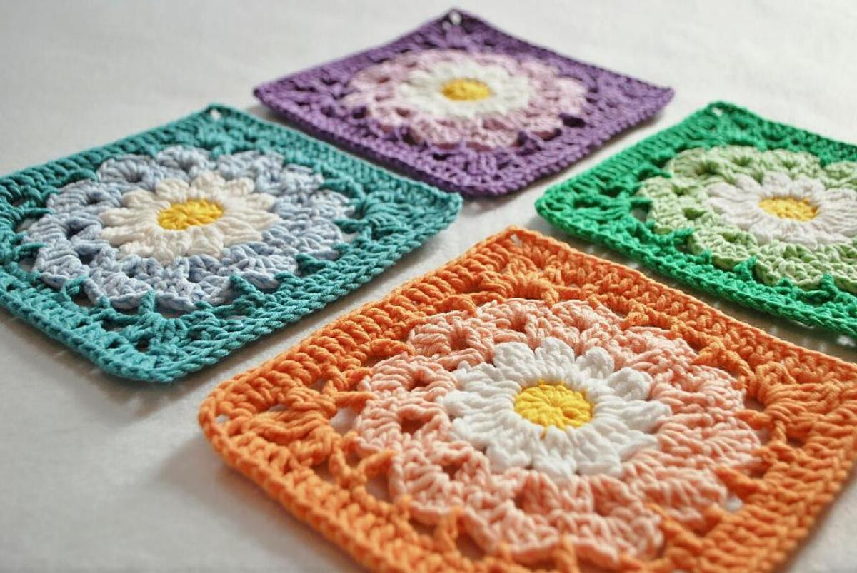 Best Of 10 Flower Granny Square Crochet Patterns to Stitch Crochet Granny Square Afghan Of Beautiful 46 Pictures Crochet Granny Square Afghan