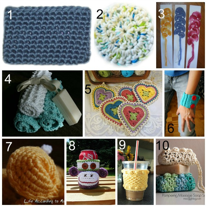 10 FREE Crochet Patterns to make some Quick and Easy Gifts