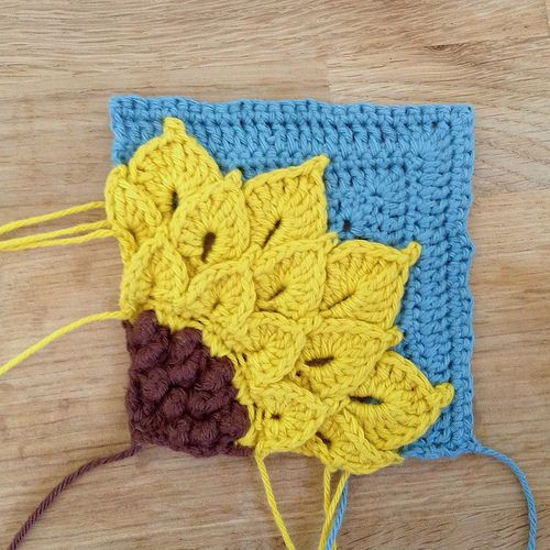 Best Of 10 Images About Mum S Crocheting Board On Pinterest Sunflower Crochet Blanket Of Contemporary 48 Ideas Sunflower Crochet Blanket