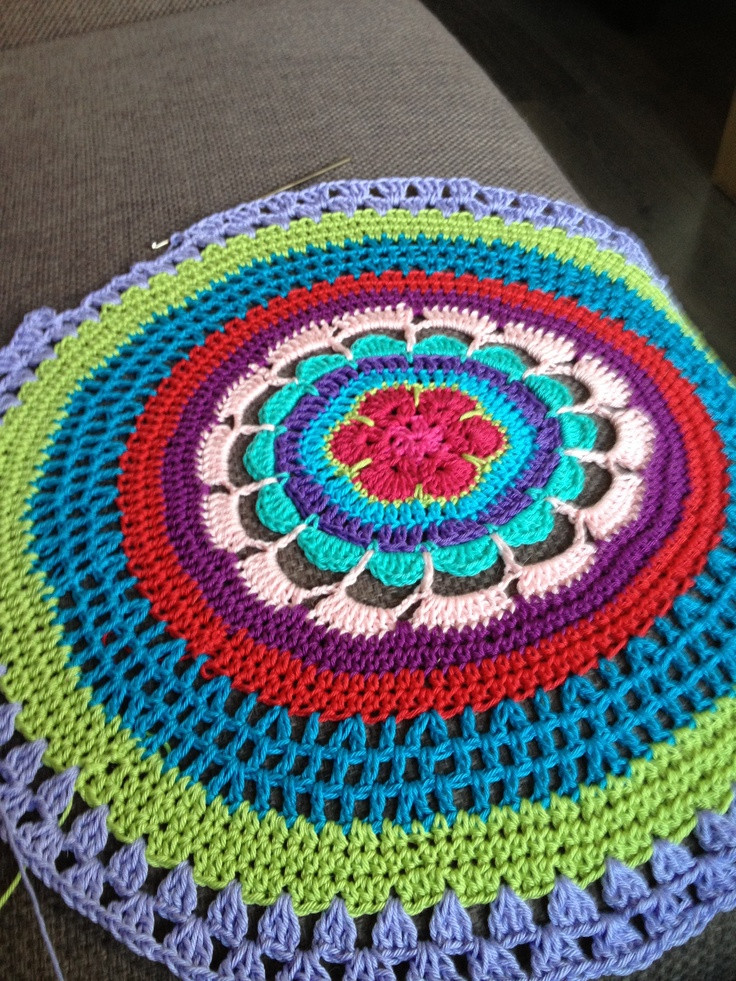 Best Of 1000 Images About Crochet Circular On Pinterest Crochet Circle Blanket Pattern Of Brilliant 42 Pictures Crochet Circle Blanket Pattern