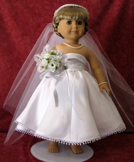 Best Of 17 Best Images About American Girl Doll Wedding Strapless American Girl Doll Wedding Dress Of Elegant Handmade 18 Doll Wedding Dress Five Piece by Creationsbynoveda American Girl Doll Wedding Dress