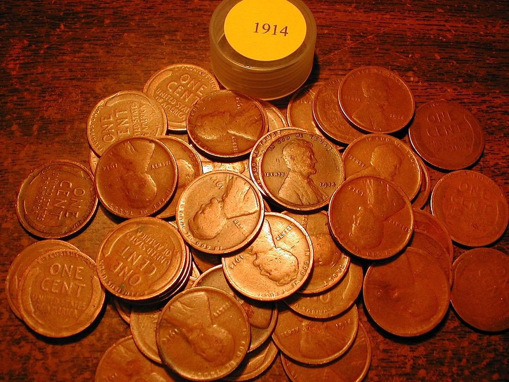 1914 P LINCOLN WHEAT CENT PENNY ROLL