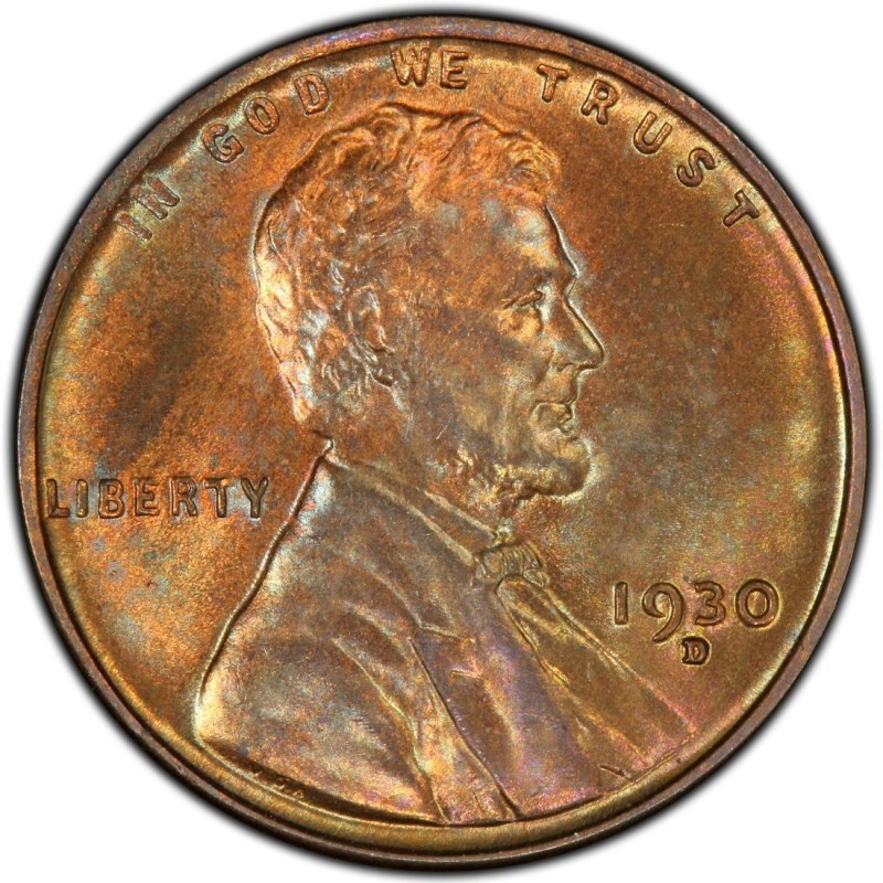 1930 Lincoln Wheat Pennies Values and Prices Past Sales