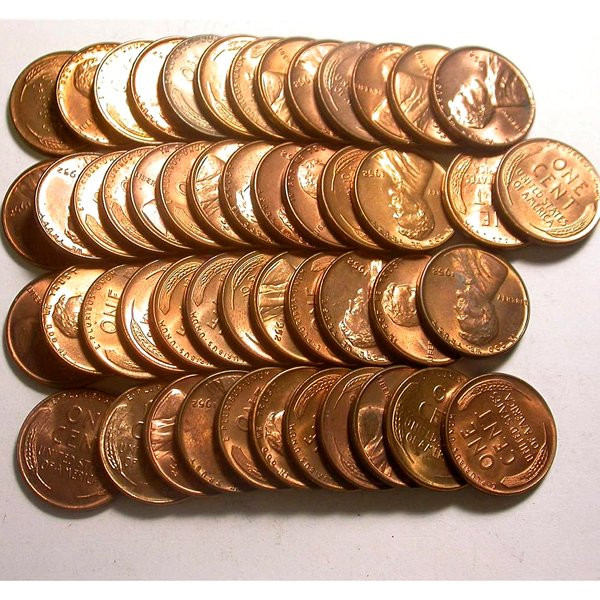 Best Of 1952 P Lincoln Wheat Penny Roll Bu Lot Wheat Penny Rolls Of Awesome 43 Photos Wheat Penny Rolls