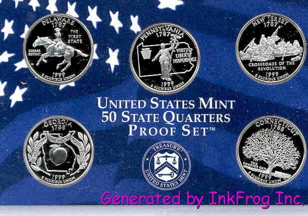 Best Of 1999 2008 Clad State Deep Cameo Gem Proof Quarter Sets 50 State Quarter Proof Set Of Top 48 Images State Quarter Proof Set