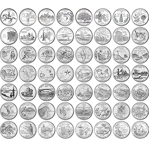 Best Of 1999 2009 State Quarters and 2010 2015 National Park State Quarter Set Of Superb 44 Pictures State Quarter Set
