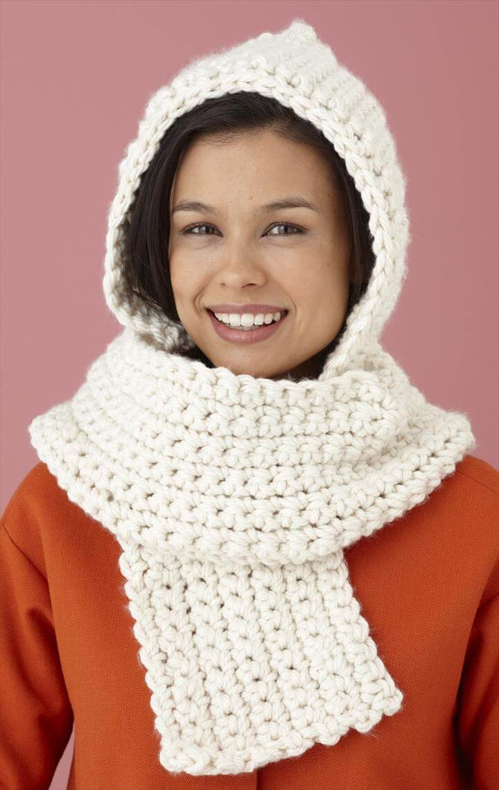 Best Of 20 Easy Handmade Crochet Project Ideas Hooded Scarf Pattern Of Brilliant 43 Pics Hooded Scarf Pattern