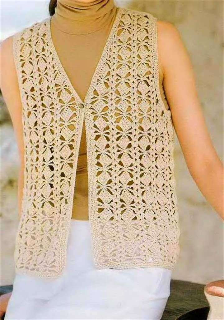 Best Of 20 Stylish Crochet Sweater Vest Design Womens Crochet Vest Of Amazing 47 Pics Womens Crochet Vest