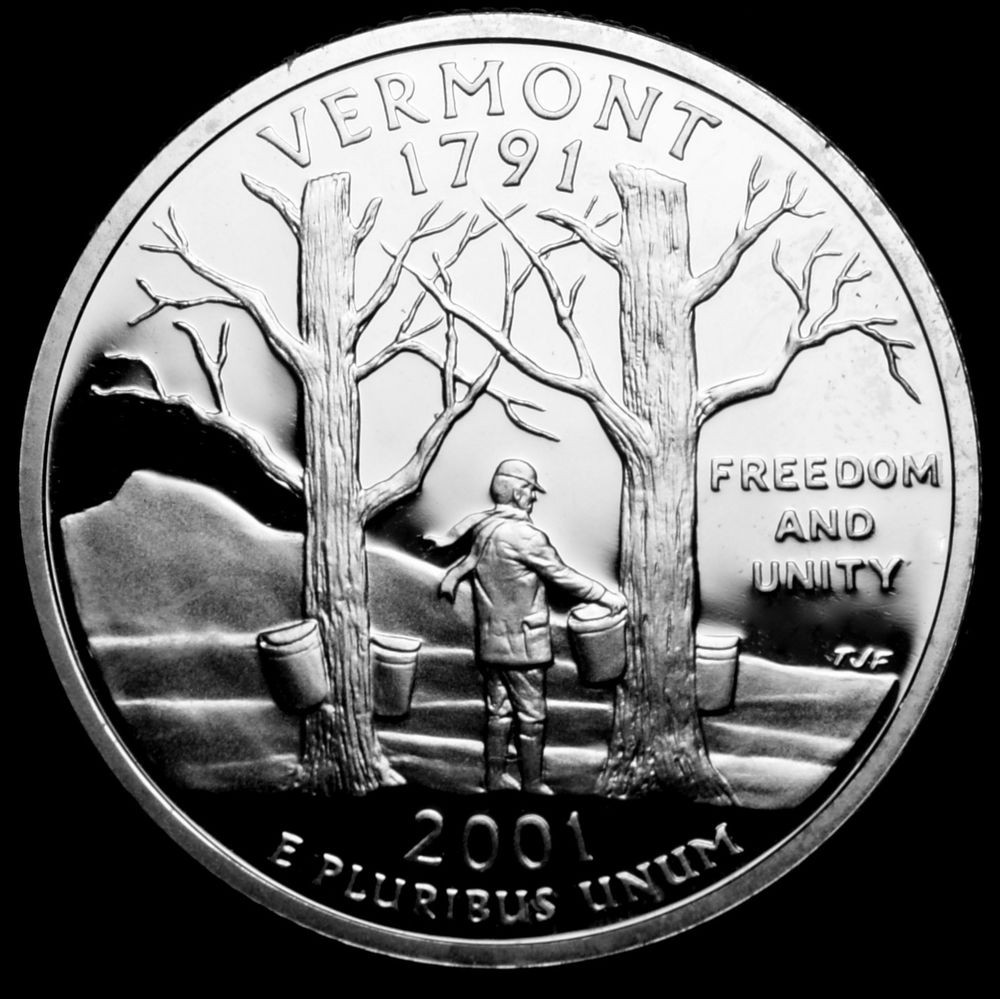 Best Of 2001 S Vermont Mint Silver Proof Statehood Quarter From State Quarter Set Of Superb 44 Pictures State Quarter Set