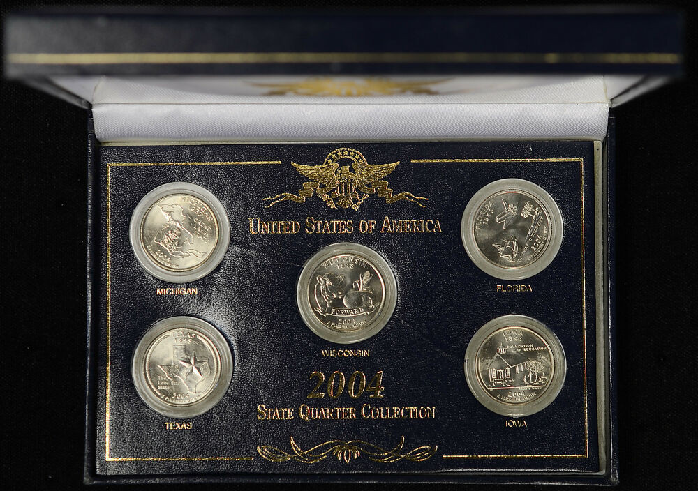 Best Of 2004 United States Memorative Gallery State Quarter State Quarter Set Value Of New 2007 P & D United States Mint Uncirculated Coin Set State Quarter Set Value