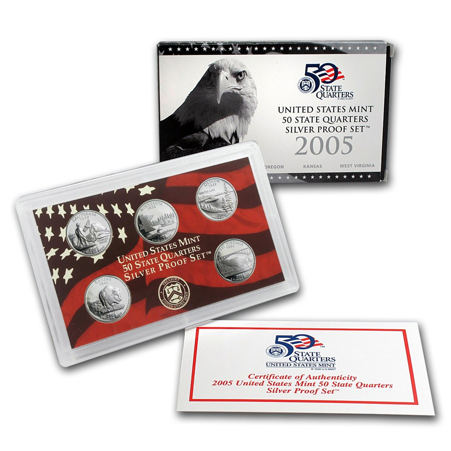 Best Of 2005 U S Proof Set Silver Quarters Ly State Quarter Proof Set Of Top 48 Images State Quarter Proof Set