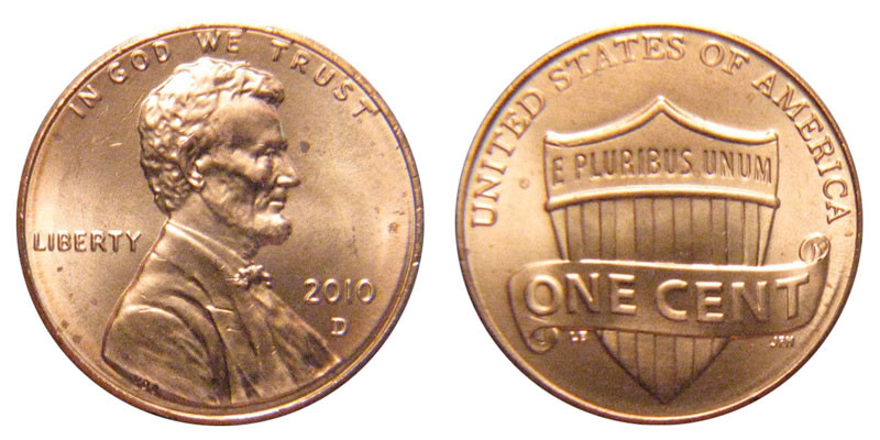 Best Of 2010 D Lincoln Shield Cent Copper Plated Zinc Penny Value Lincoln Cent Values Of Amazing 50 Images Lincoln Cent Values