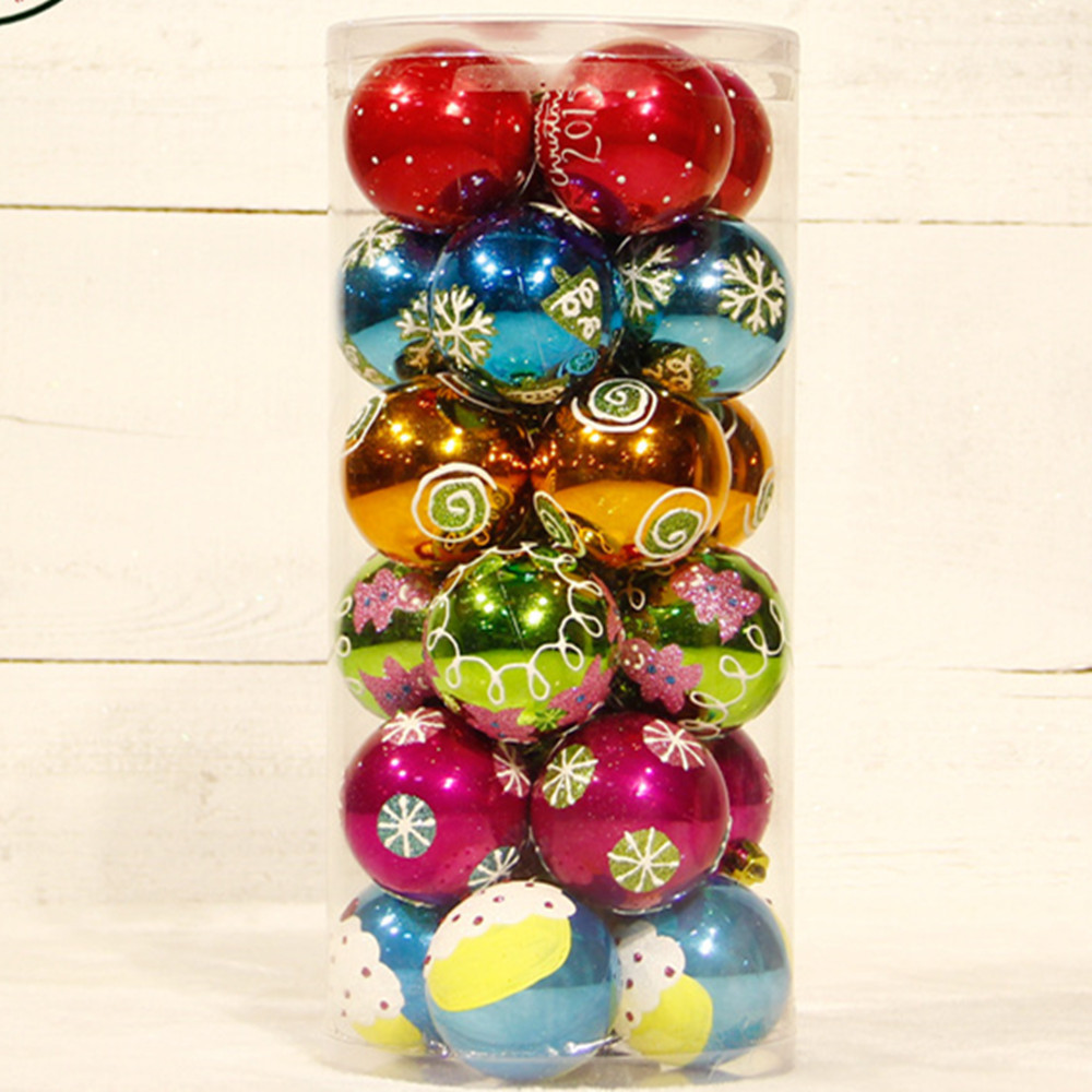 Best Of 24pcs 6cm wholesale top Quality Luxury Plastic Christmas Christmas Tree Ball ornaments Of Charming 46 Ideas Christmas Tree Ball ornaments