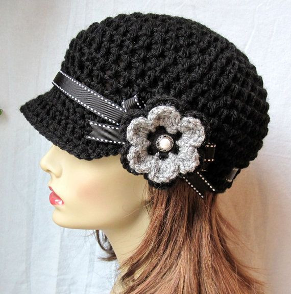 Best Of 25 Best Ideas About Crochet Newsboy Hat On Pinterest Crochet Flower for Hat Of Beautiful 45 Photos Crochet Flower for Hat