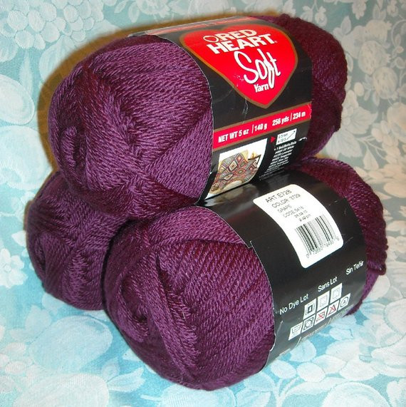Best Of 3 Skeins Red Heart soft Yarn 15 Oz 768 Yards solid Purple Red Heart soft Yarn Colors Of Charming 43 Photos Red Heart soft Yarn Colors