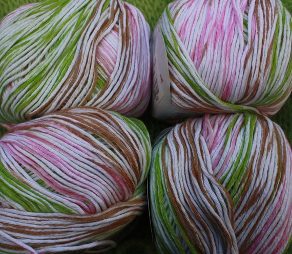 Best Of 5 Cotton Yarn Variegated Pink and Green 50g Balls Of Yarn Green Variegated Yarn Of Beautiful 50 Pics Green Variegated Yarn