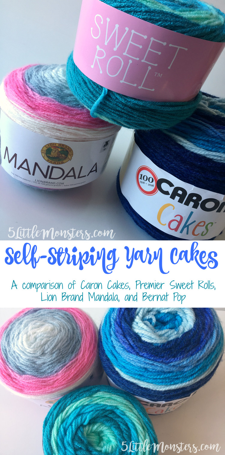 5 Little Monsters Self Striping Yarn Cakes A parison