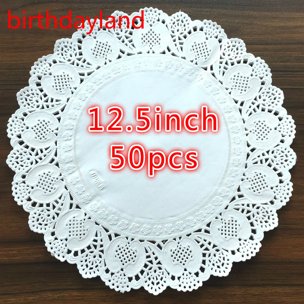 Best Of 50pcs 12 5inch Diameter 32cm White Round Lace Paper Christmas Doilies Of Wonderful 44 Photos Christmas Doilies