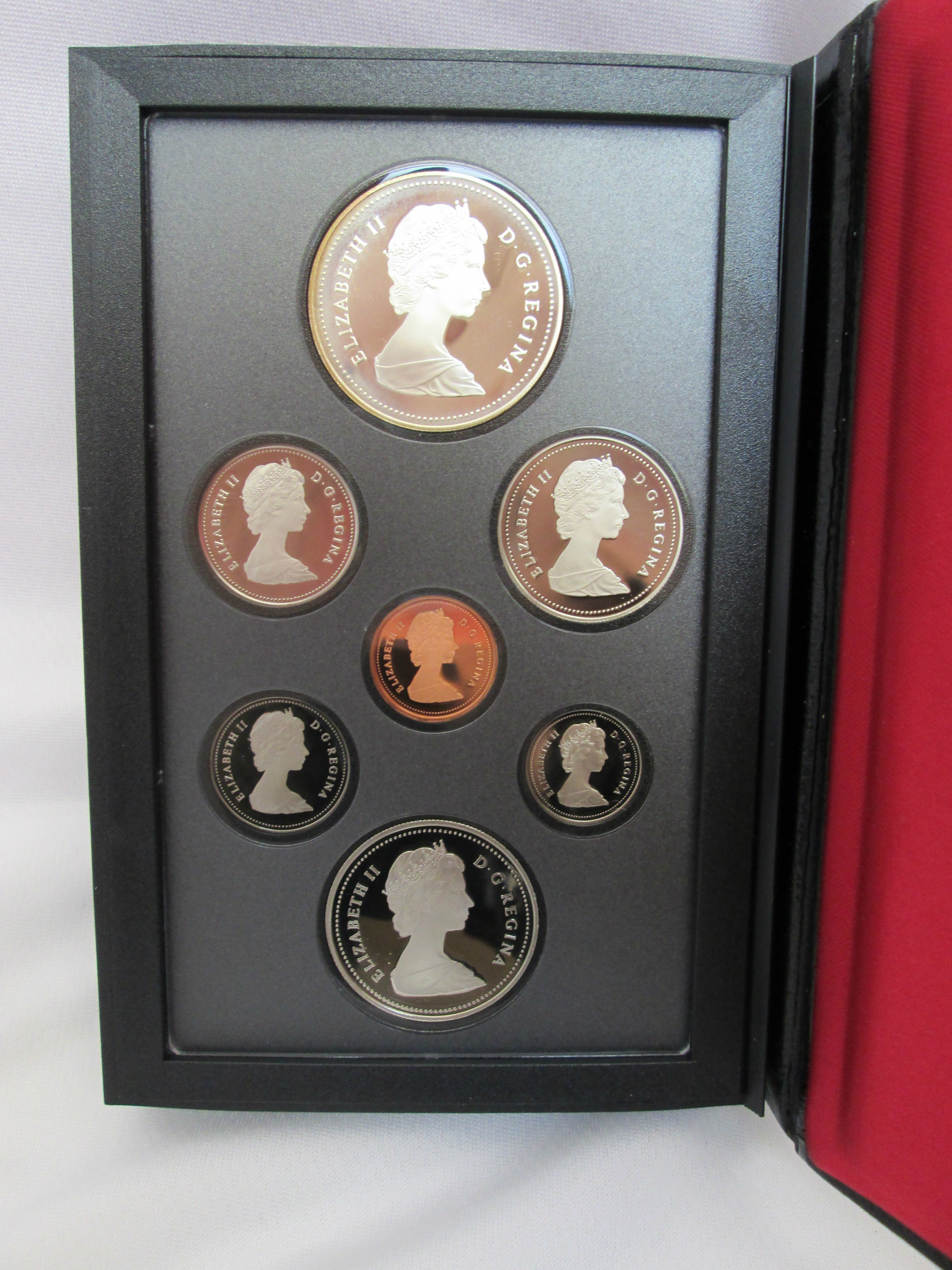 7 Coin Proof Set Royal Canadian Mint 1986 Current