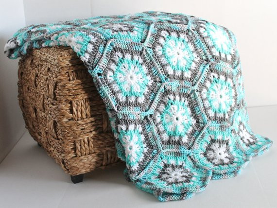 Best Of Afghan Handmade Snowflake Hexagon Crochet Blanket Aqua Snowflake Blanket Of Lovely 50 Models Snowflake Blanket