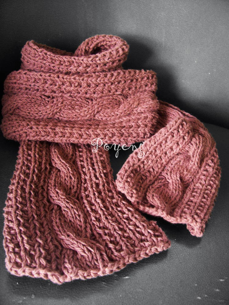 Best Of Ajeng Belajar Merajut Knitting with Ajeng Cable Scarf Cable Knit Scarf Pattern Of Luxury 44 Ideas Cable Knit Scarf Pattern