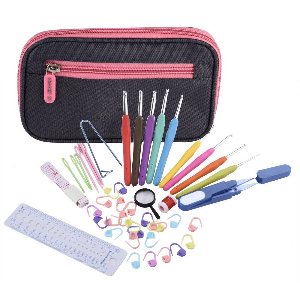Best Of Aliexpress Buy New Exclusive Fer 44 Pcs Ergonomic Crochet Hook Sets with Case Of Amazing 49 Images Crochet Hook Sets with Case