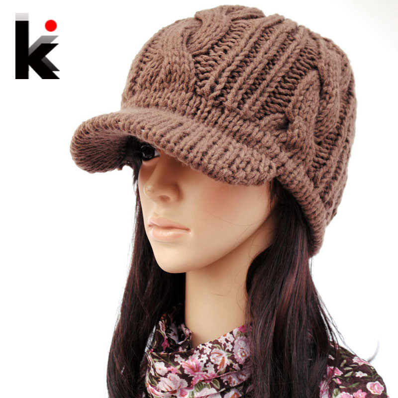 Best Of Aliexpress Buy Winter Knitted Hat Wide Brim Quality Knit Hat with Brim Of Contemporary 48 Pictures Knit Hat with Brim