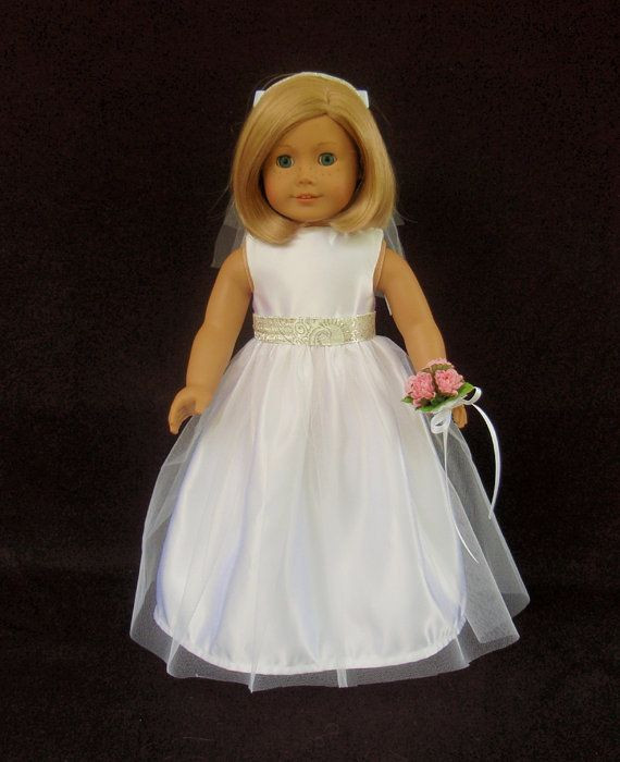 Best Of American Girl Doll Clothes Satin and Tulle Wedding Gown American Girl Doll Wedding Dress Of Elegant Handmade 18 Doll Wedding Dress Five Piece by Creationsbynoveda American Girl Doll Wedding Dress