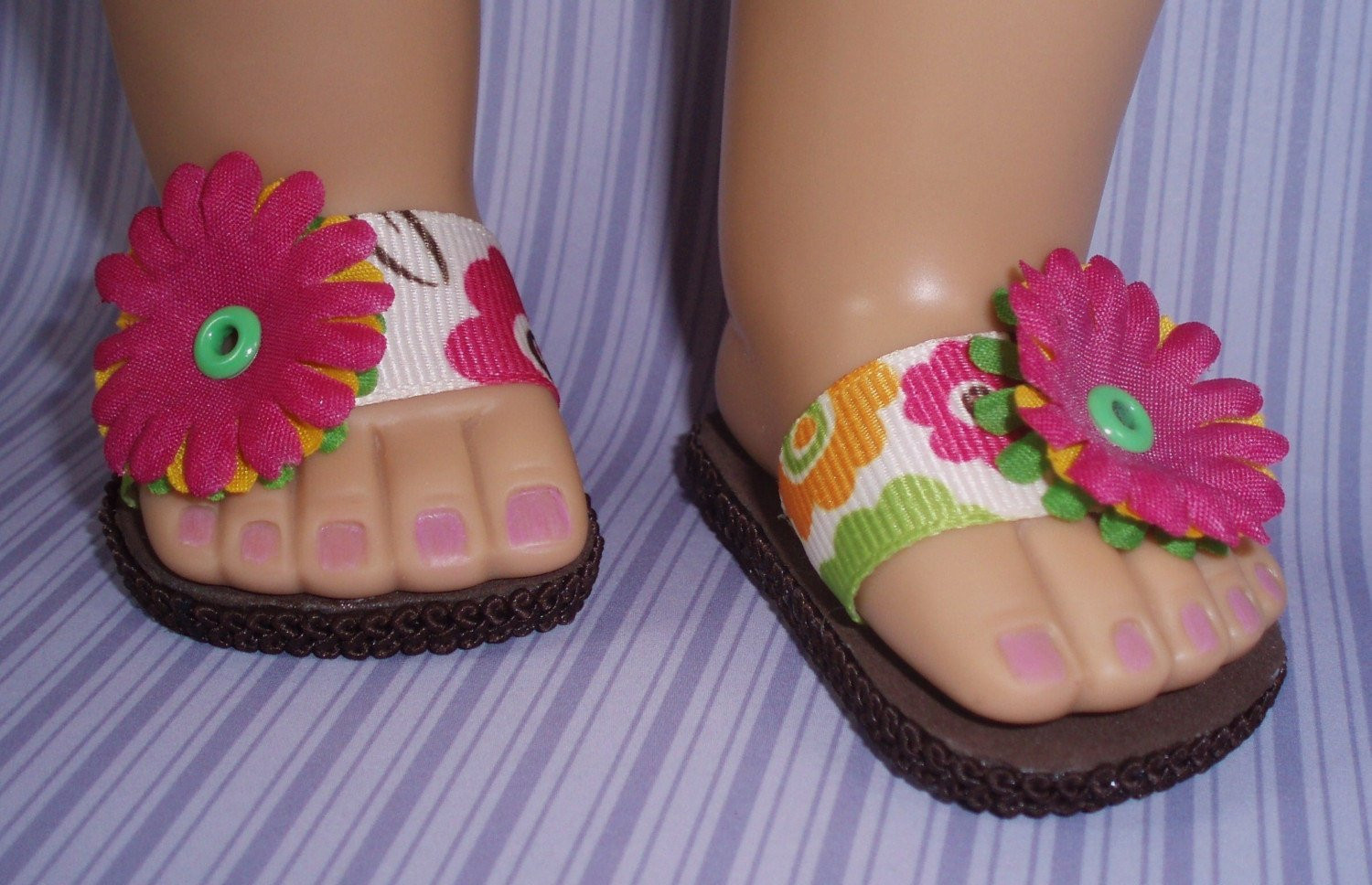 American Girl Doll Shoes Spring Flower Sandals by