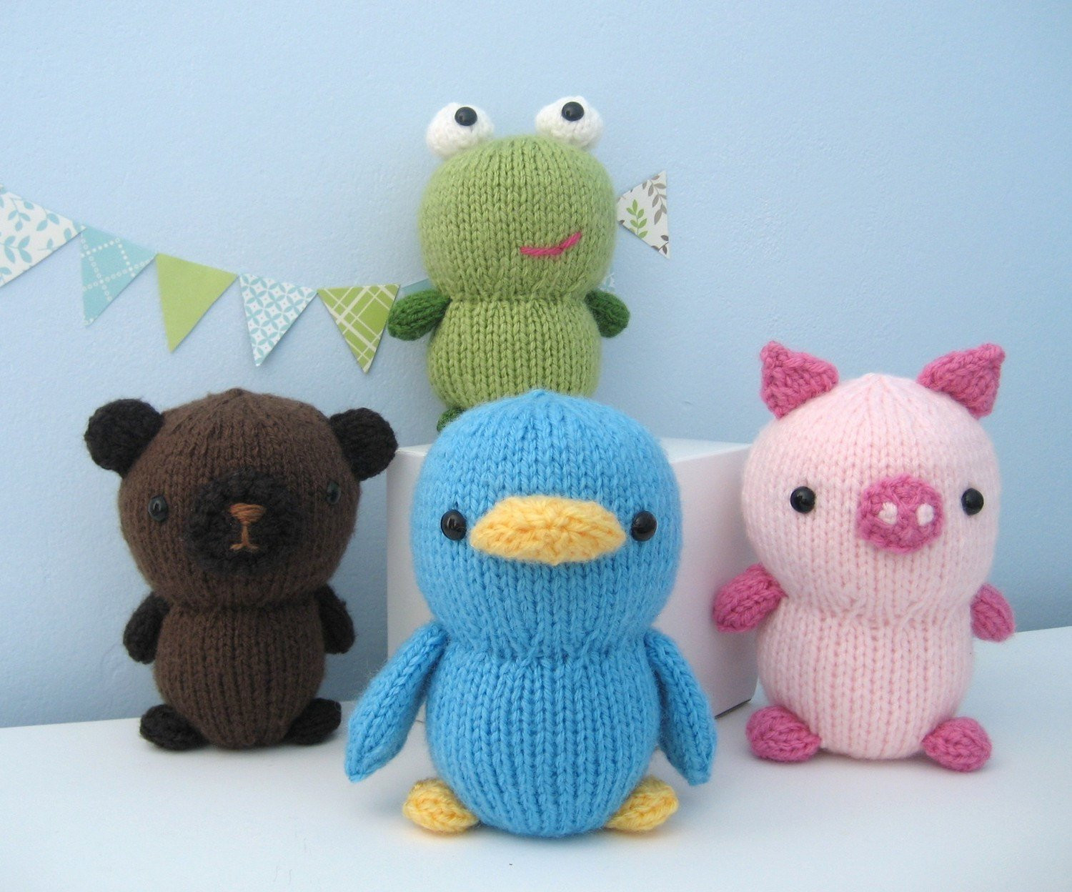 Best Of Amigurumi Knit Animal Friends Pattern Set Digital Download Knitted Animals Of Attractive 49 Pics Knitted Animals