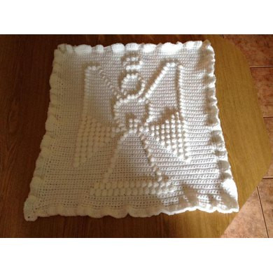 Angel Baby Blanket Crochet pattern by The Baby Crow