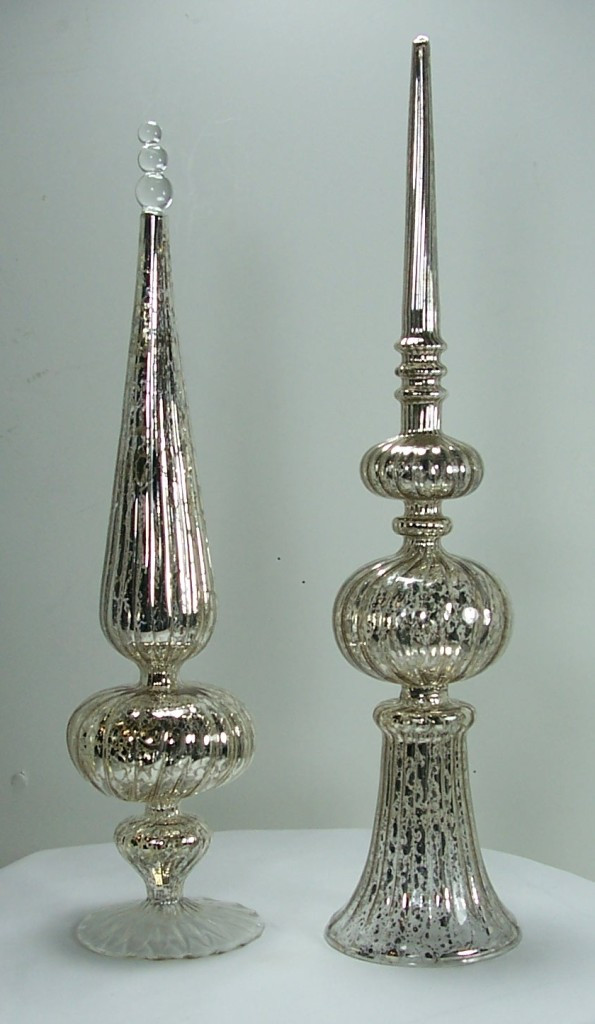 Best Of Antique Style Silver Mercury Glass Finial ornaments Vintage Mercury Glass ornaments Of Charming 46 Ideas Vintage Mercury Glass ornaments