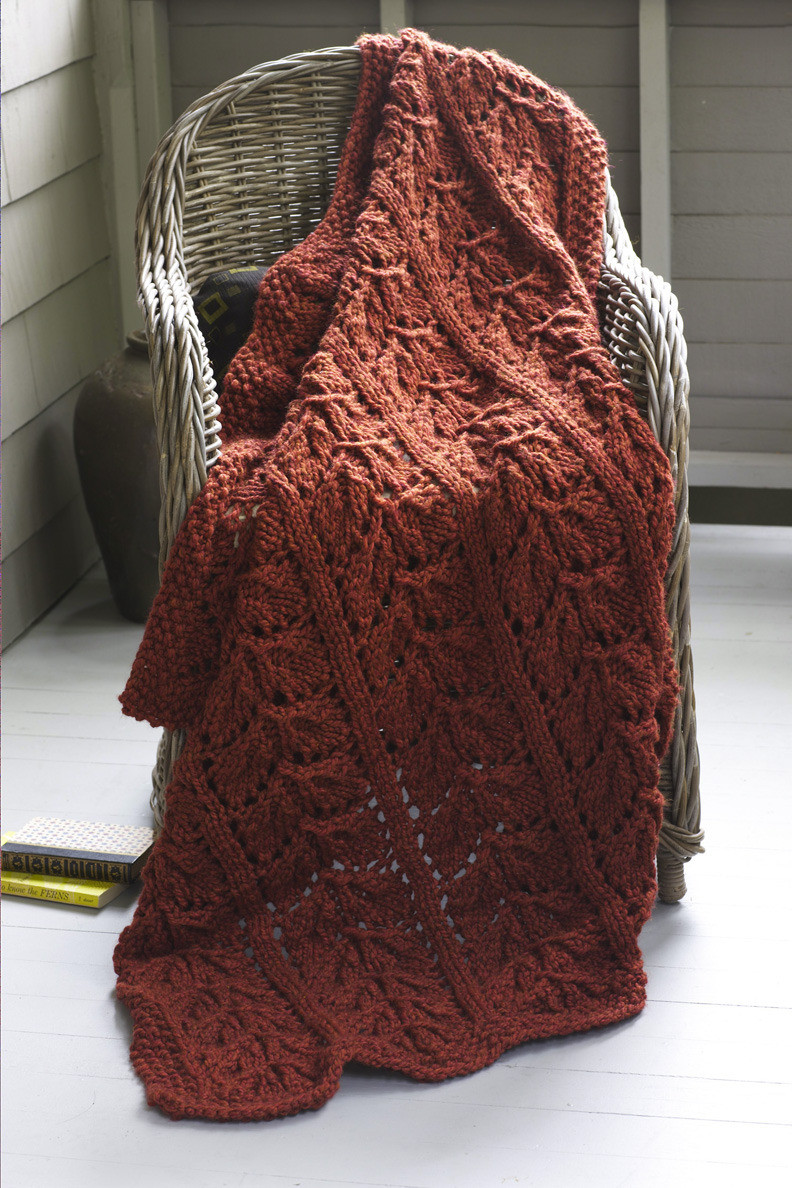 Best Of Autumn Leaves Afghan In Lion Brand Wool Ease Thick & Quick Lion Yarn Patterns Of Delightful 41 Images Lion Yarn Patterns
