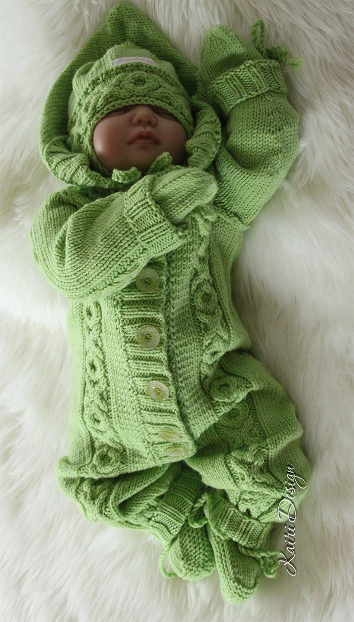 Baby esie and Romper Knitting Patterns